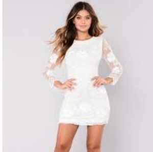 NWT Fashion Nova White Sequin Dress